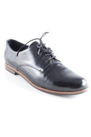 Drievholt Zapatos estilo Oxford negro look de cuero