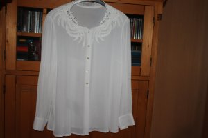 ae elegance Long Sleeve Blouse white viscose