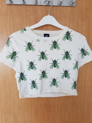 dropdead crop top mit fliegenmuster