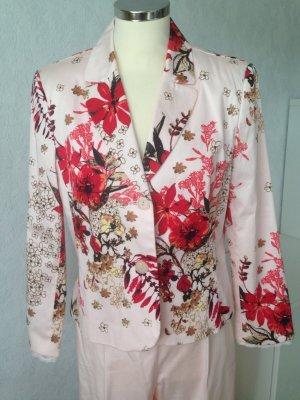 Druck Blazer, Taillierter Blazer mit Blumendruck