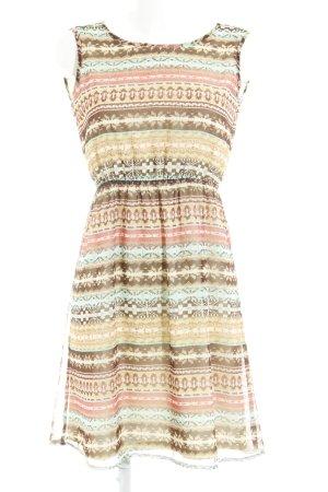 Dry Lake A-Linien Kleid abstrakter Druck Hippie-Look