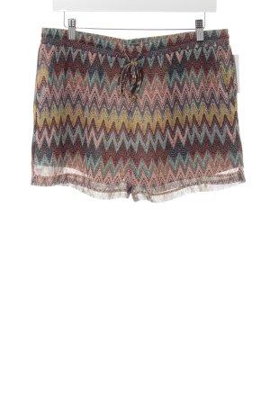 Dry Lake High-Waist-Shorts abstrakter Druck Beach-Look