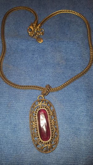 Dyrberg/Kern Necklace bronze-colored-dark red