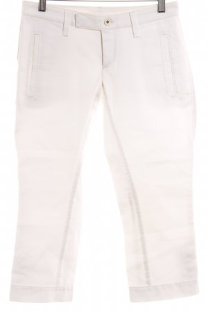 Drykorn Pantalón pirata blanco look casual