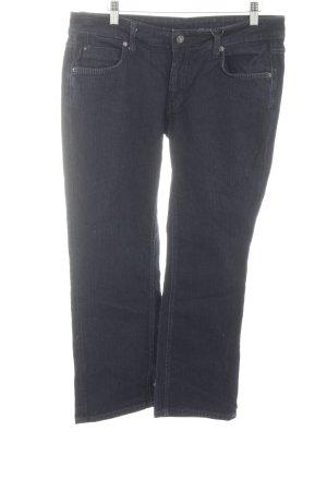 Drykorn Jeans a 7/8 nero-blu neon stile casual