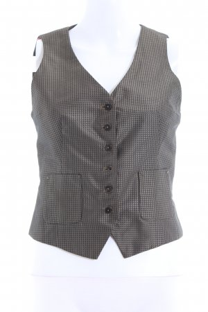 Drykorn Waistcoat black-bronze-colored graphic pattern elegant