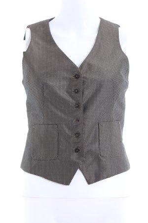 Drykorn Anzugweste schwarz-bronzefarben grafisches Muster Elegant