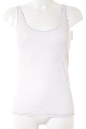 Drykorn Top básico blanco puro estilo clásico