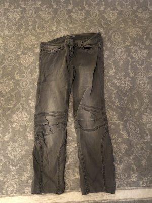 Drykorn Jeans da motociclista grigio-grigio chiaro