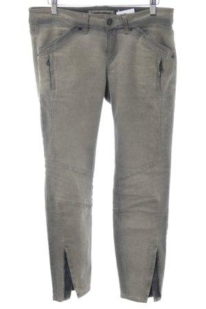 Drykorn Biker jeans lichtgrijs straat-mode uitstraling