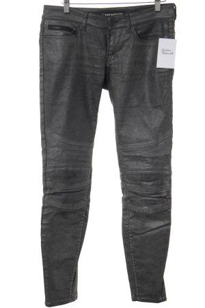 Drykorn Jeans da motociclista nero-argento Stile ciclista