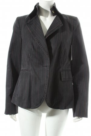 Drykorn Blazer dunkelblau-dunkelrot Streifenmuster Casual-Look
