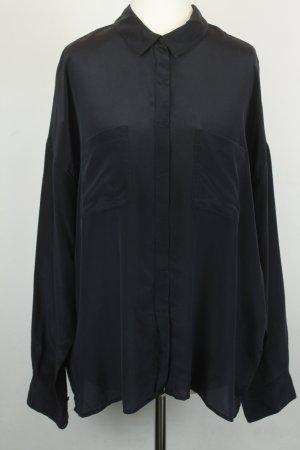 Drykorn Bluse Seidenbluse Gr. 2 / 38 schwarz langarm