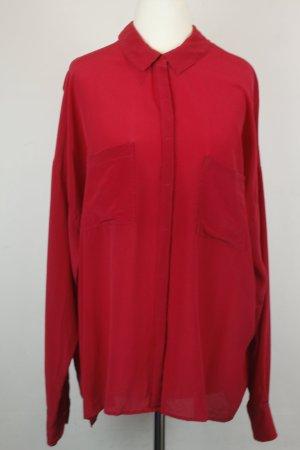 Drykorn Bluse Seidenbluse Gr. M pink rot