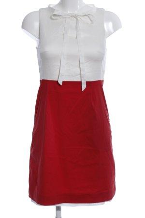 Drykorn Blusenkleid weiß-rot Business-Look
