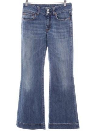 Drykorn Boot Cut spijkerbroek neon blauw casual uitstraling