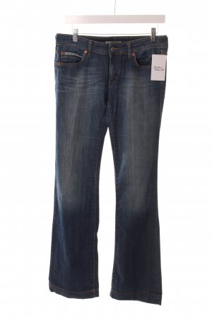 Drykorn Boot Cut Jeans blau-hellblau Washed-Optik