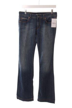 Drykorn Boot Cut Jeans blau-hellblau Washed-Optik