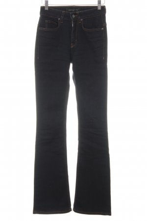 Drykorn Jeans svasati blu scuro Logo applicato (in pelle)