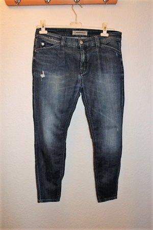 Drykorn Jeans boyfriend bleu foncé coton