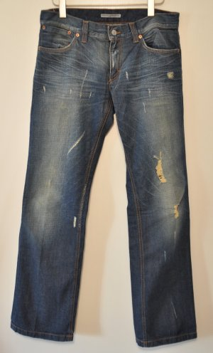 Drykorn Boyfriend Jeans destroyed blau Gr. 30 | 34