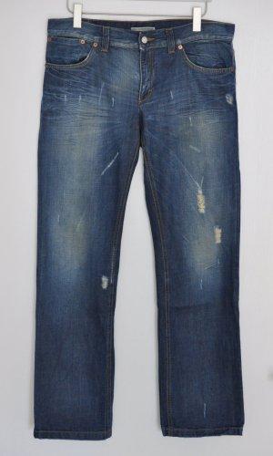 Drykorn Boyfriend Jeans destroyed blau Gr. 31 | 34 FAST WIE NEU