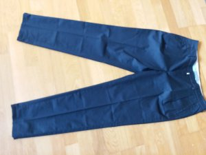 Drykorn Pantalon à pinces bleu foncé coton