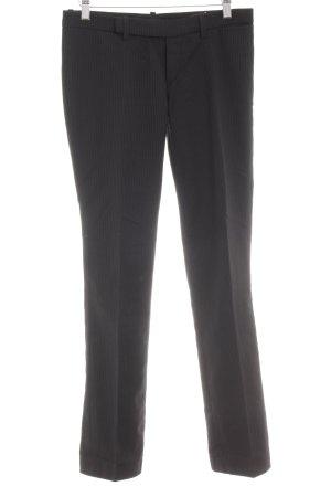 Drykorn Pantalon à pinces noir-gris foncé rayure fine style d'affaires