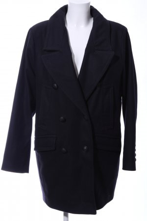 Drykorn Heavy Pea Coat blue business style