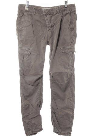 Drykorn Pantalon cargo gris brun style rétro