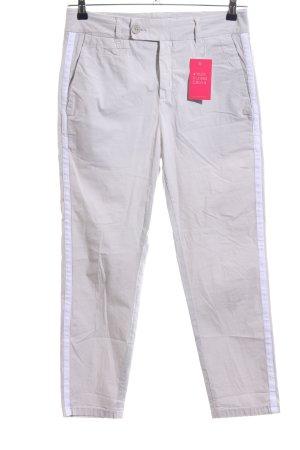 Drykorn Chinohose hellgrau-weiß Streifenmuster Casual-Look