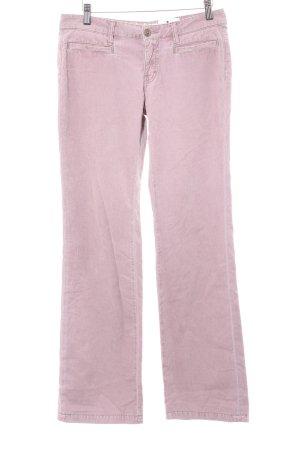 Drykorn Corduroy broek stoffig roze casual uitstraling
