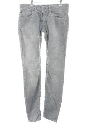 Drykorn Pantalon en velours côtelé gris clair style décontracté