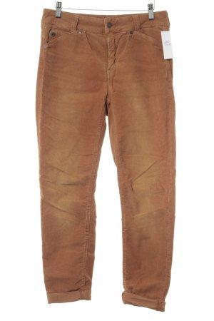 Drykorn Pantalone di velluto a coste color cammello stile casual