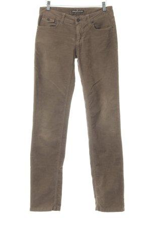 Drykorn Pantalon en velours côtelé ocre style décontracté