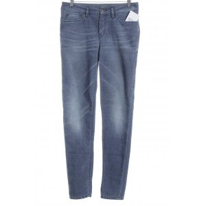 Drykorn Pantalone di velluto a coste blu acciaio stile casual