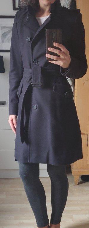 Drykorn Damen Wollmantel dunkelblau
