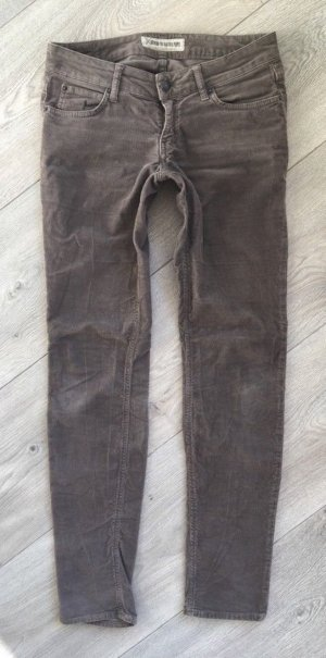 Drykorn Feincord Cordhose Gr. 27/34 taupe
