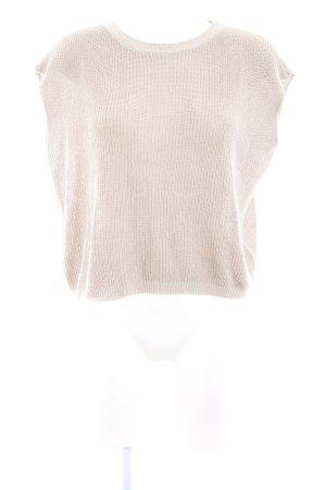 Drykorn Cardigan en maille fine crème motif rayé style décontracté