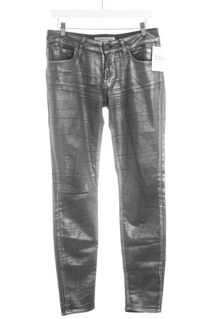 Drykorn Vijfzaksbroek zwart-zilver extravagante stijl