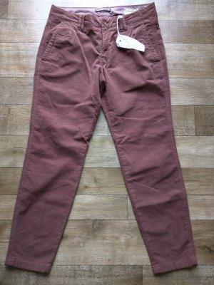 Drykorn Pantalone di velluto a coste malva-grigio-lilla Cotone