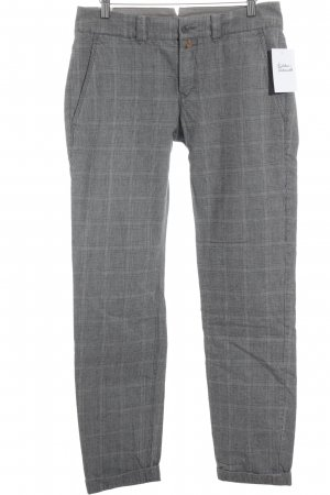 DRYKORN FOR BEAUTIFUL PEOPLE Chino gris oscuro-beige estampado a cuadros