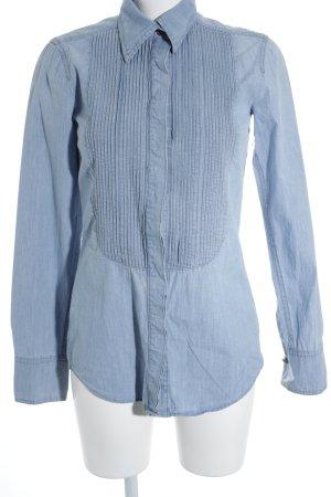 DRYKORN FOR BEAUTIFUL PEOPLE Jeansbluse himmelblau Steppmuster Jeans-Optik