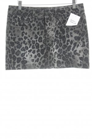 DRYKORN FOR BEAUTIFUL PEOPLE Denim Skirt black-grey leopard pattern casual look