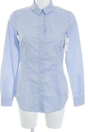 DRYKORN FOR BEAUTIFUL PEOPLE Langarm-Bluse kornblumenblau Business-Look