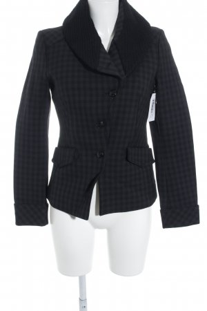 DRYKORN FOR BEAUTIFUL PEOPLE Long-Blazer schwarz Vichykaromuster Casual-Look