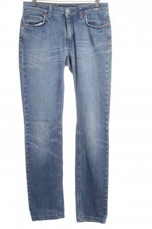 DRYKORN FOR BEAUTIFUL PEOPLE Straight-Leg Jeans blau-wollweiß Washed-Optik