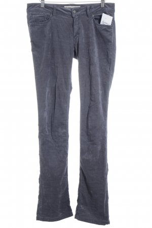DRYKORN FOR BEAUTIFUL PEOPLE Straight-Leg Jeans graublau Samt-Optik