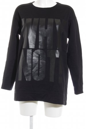 DRYKORN FOR BEAUTIFUL PEOPLE Sweat Shirt black printed lettering casual look