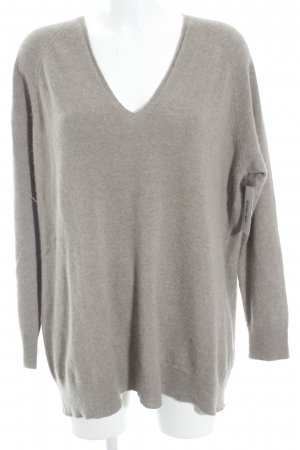 DRYKORN FOR BEAUTIFUL PEOPLE V-Ausschnitt-Pullover graubraun Casual-Look